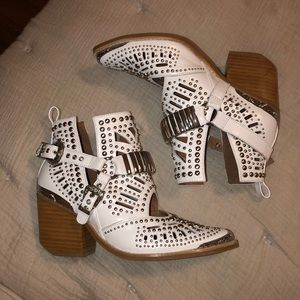 Jeffrey Campbell White booties